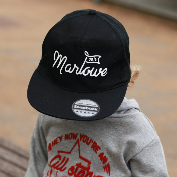 kids personalised cap snap back uk
