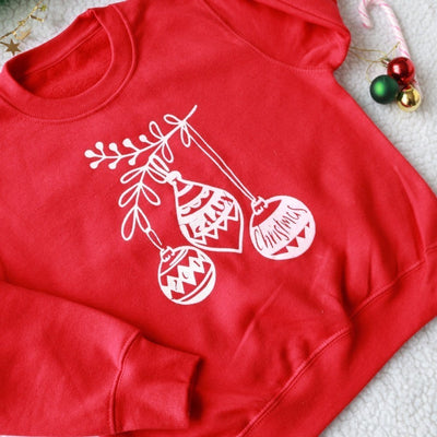 Personalised Christmas Bauble Sweatshirt
