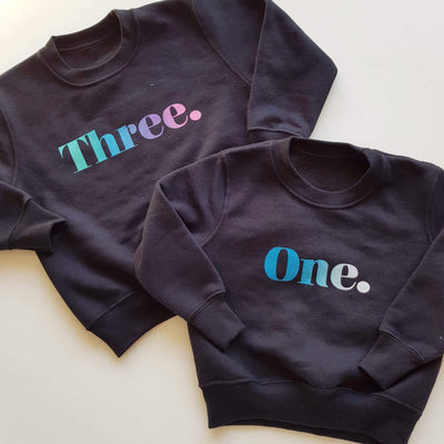 Classic Birthday Kids Sweater (any age)