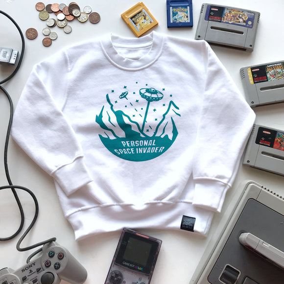 personal space invader sweatshirt kids slogan top