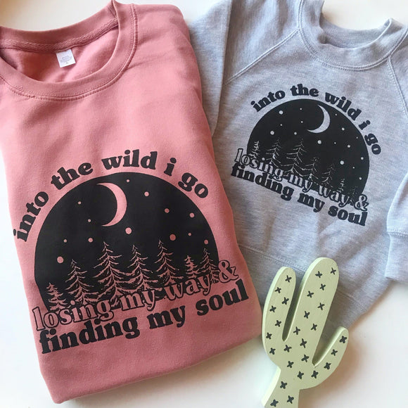 into the wild kids slogan sweater uk