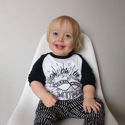 Sweet Child O'Mummy Raglan Baseball Top