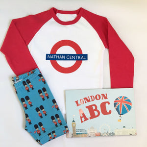 Personalised London Tube Tee/ Raglan