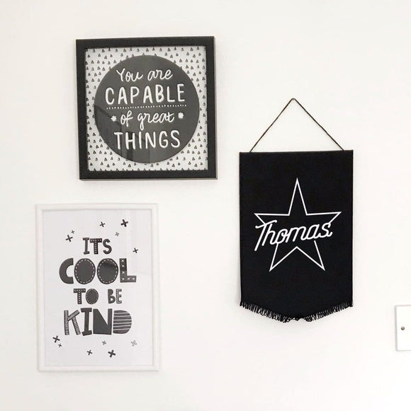 Personalised Star Name Wall Flag