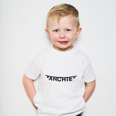 personalised kids name tee