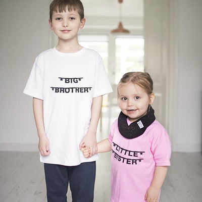 Sibling Banner Kids T-Shirt (big/ little brother/ sister)