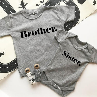 brother sister sibling t-shirt set