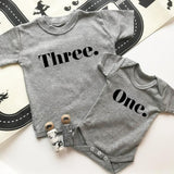kids birthday t-shirt one year old three year old