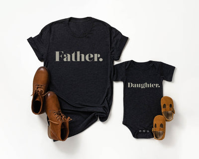 Classic Daddy Daughter/ Son Raglan Baseball/ T-Shirt or Vest