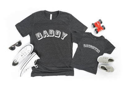 Retro Daddy Daughter/ Son Raglan Baseball/ T-Shirt or Vest