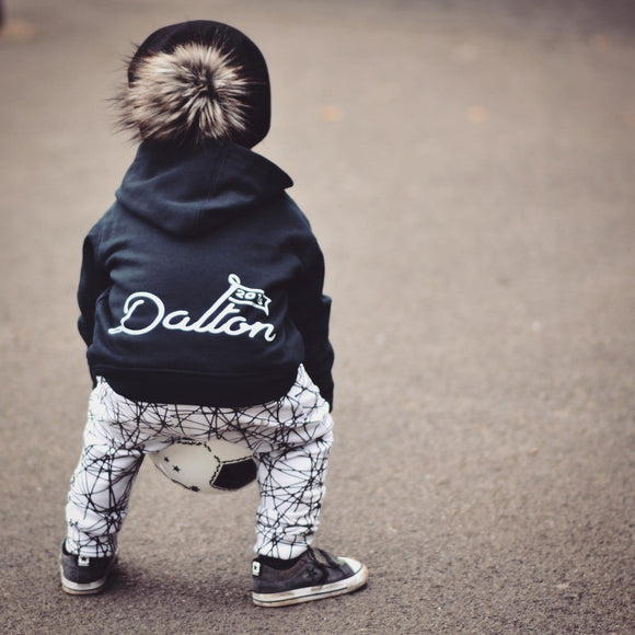personalised kids zip up hoodie