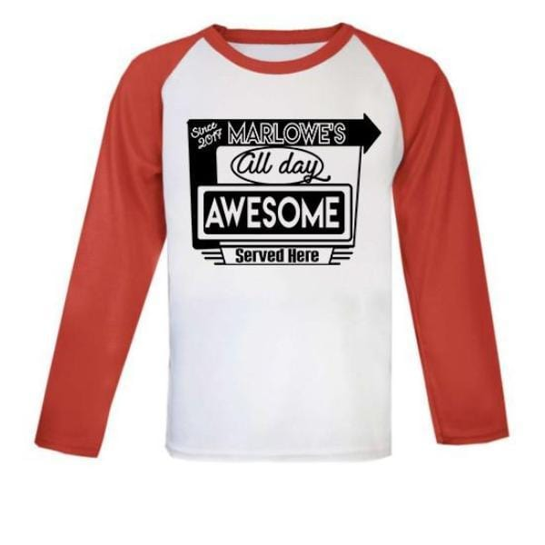 personalised kids american diner top