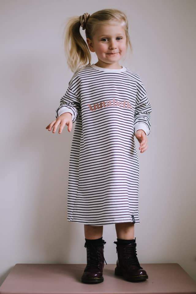 Personalised Classic Striped Slouch Tee Dress