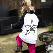 Personalised rockSTAR Raglan Baseball Top