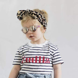 kids personalised striped name tee t-shirt