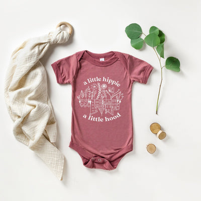hippie baby vest hand screen printed cute baby clothes
