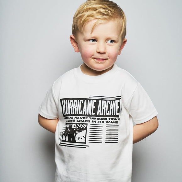 hurricane personalised kids t-shirt