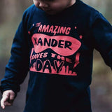 kids personalised superhero t-shirt