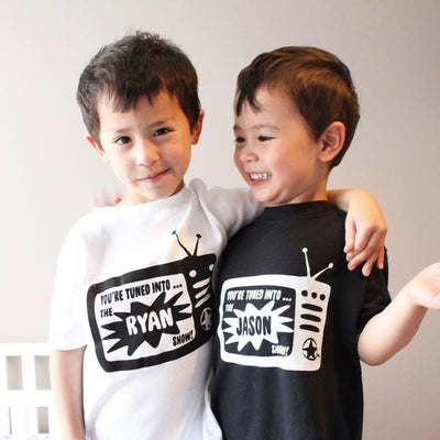 tv show kids personalised t-shirt