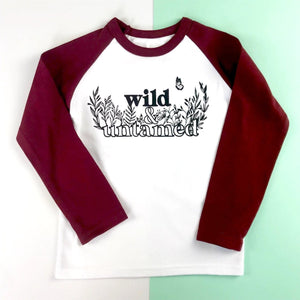 Wild & Untamed Raglan Baseball Kids Top