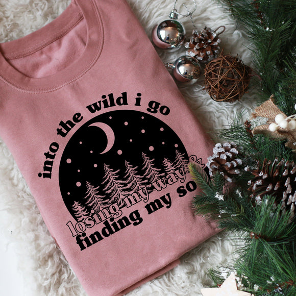 Into The Wild Slogan Adults Sweater/ Hoodie