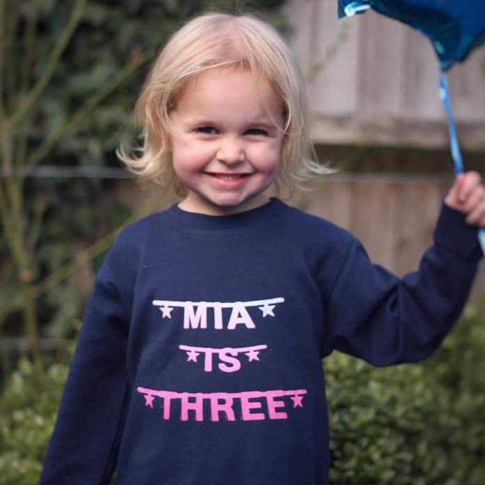 personalised third 3rd birthday t-shirt