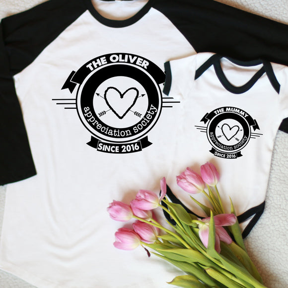 Mummy Appreciation Society Mothers Day T-Shirt/ Vest Set