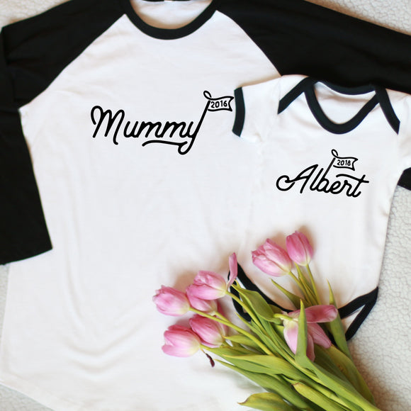 mummy and me twinning t-shirt set uk