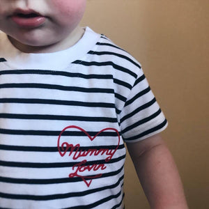 Mummy Lovin'/ Daddy Lovin Kids Stripe T-Shirt