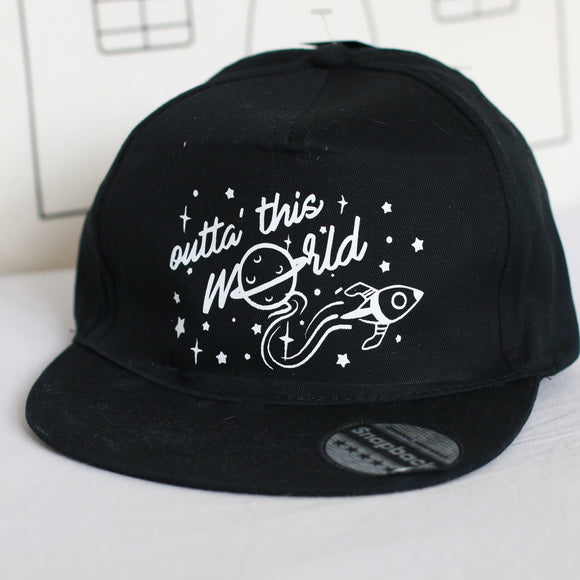 space kids cap snap back sun hat out of this world marloweville