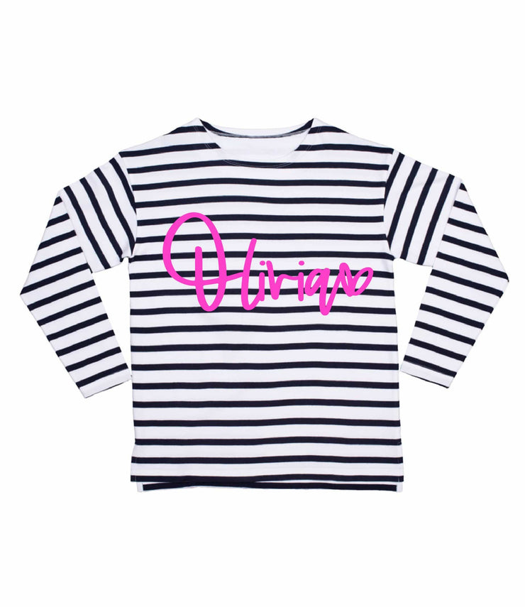 Script Name Long Sleeved Breton Tee