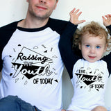 Youth of Today Daddy and Me Set Raglan Baseball/ T-Shirt or Vest