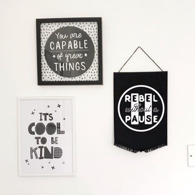 Rebel Without A Pause Wall Flag
