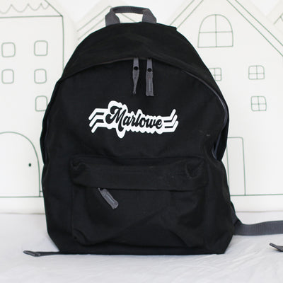 Retro Name Personalised Backpack