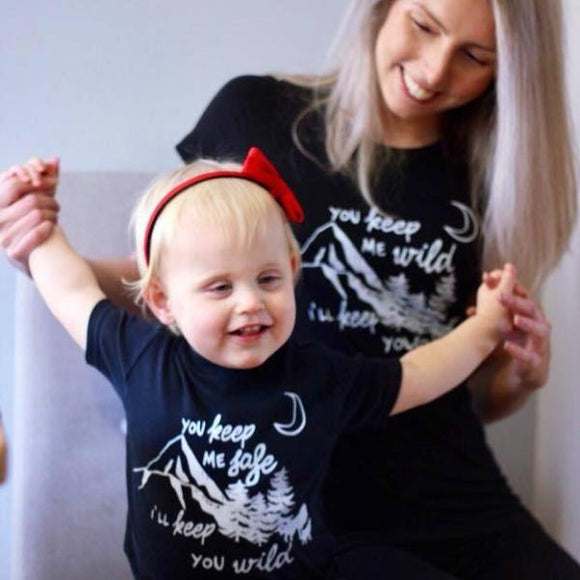 Safe and Wild T-Shirt and Kid's Tee / Vest Set