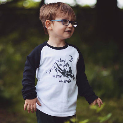 Safe and Wild Raglan Baseball Top