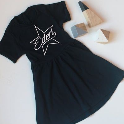 Personalised Star Name Cotton Dress