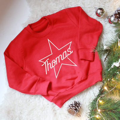 Personalised Star Name Kids Sweatshirt