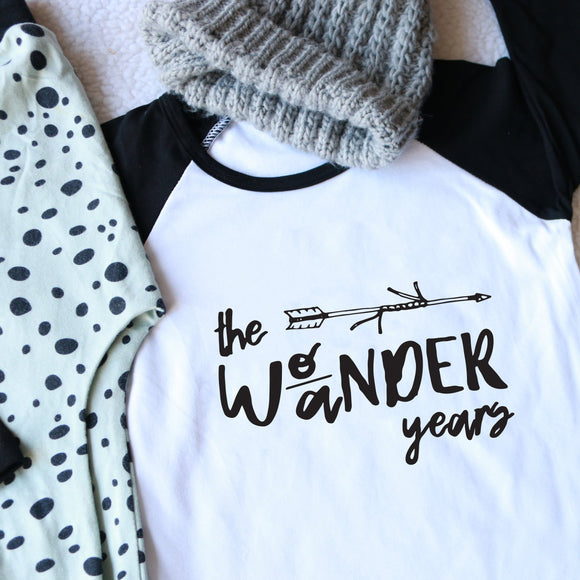 Wo/ander Years Raglan Baseball Top