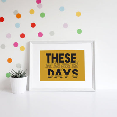 The Good Old Days Art Print