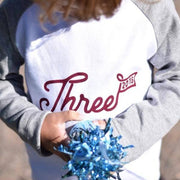 three third birthday raglan top uk