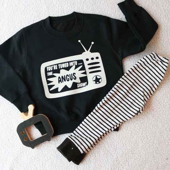Personalised TV Show Kids Sweater