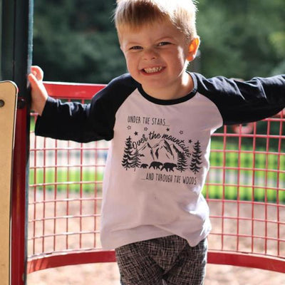 Under The Stars Raglan Baseball Top