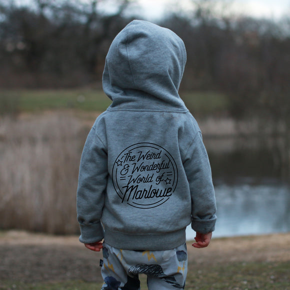 Personalised Weird and Wonderful  Zip Hoodie
