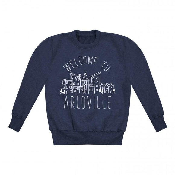 personalised kids sweatshirt town name uk