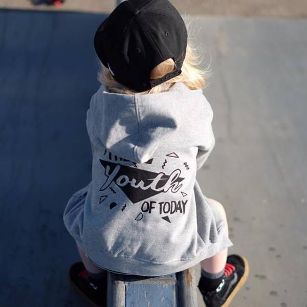 "cool kids slogan zip hoodie ""youth of today"""