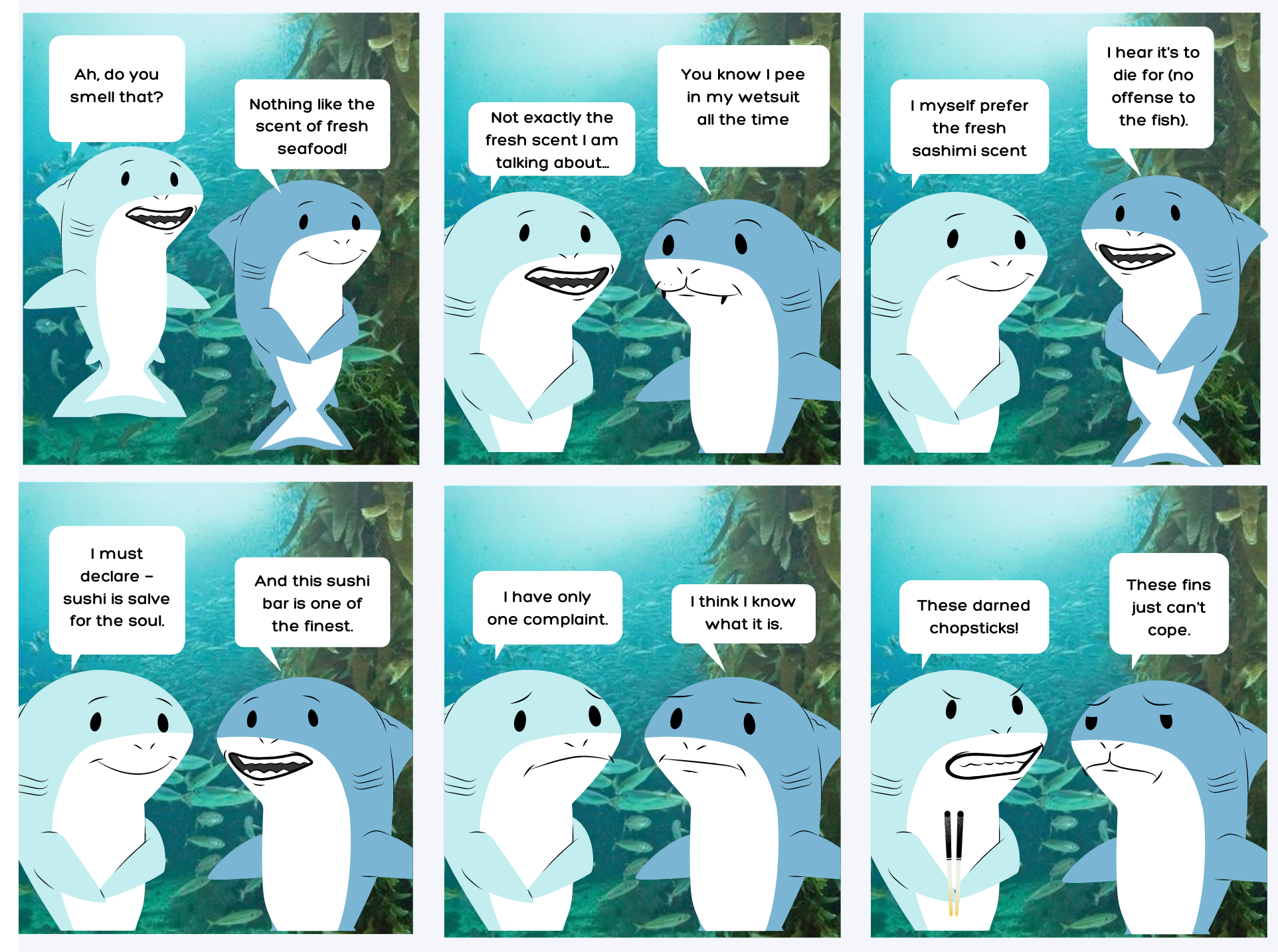 Shark Comics - To Pee or Not to Pee