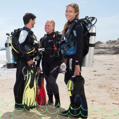 Group guided dive & rental gear (Beach)