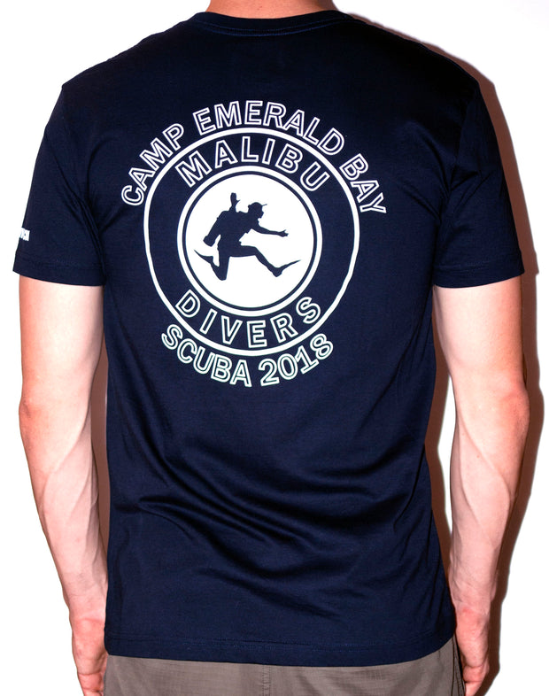 2019 - 2021 Camp Emerald Bay T-Shirt, Short Sleeve  - Malibu Divers Logo
