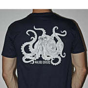 Crew Neck, Short Sleeve  - Malibu Divers Logo + Octopus